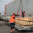 Разгрузка длинномерных грузов, 2 стропальщика